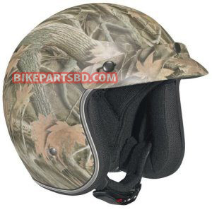 Vega X-380 Forest Camo Open Face Helmet